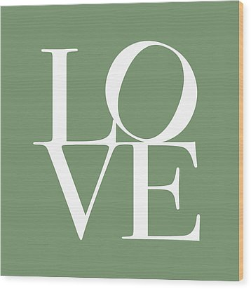 Love In Green Wood Print by Michael Tompsett