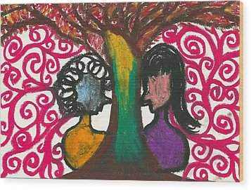 Love In The Tree's Explostion Wood Print by Ivy T Flanders