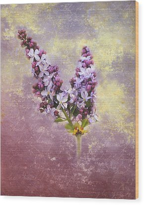 Love Letter Iv Wood Print by Jai Johnson