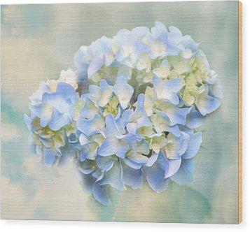 Love Letter Vii Hydrangea Wood Print by Jai Johnson