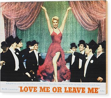 Love Me Or Leave Me, Doris Day, 1955 Wood Print by Everett