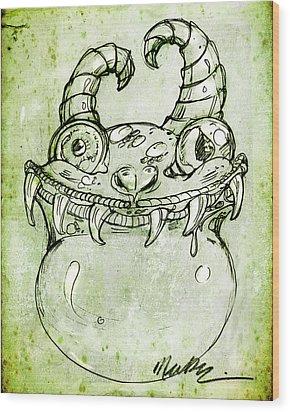 Love Monster Wood Print