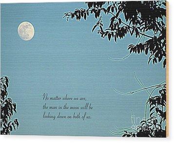 Love Notes Man In The Moon Wood Print by Renee Trenholm