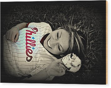 Love Of The Game Wood Print by Ashley Branstetter