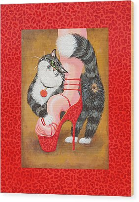 Love Pump Red Wood Print by Baron Dixon