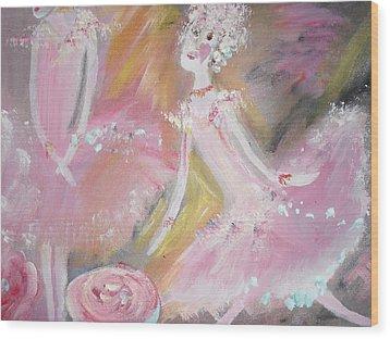 Love Rose Ballet Wood Print by Judith Desrosiers