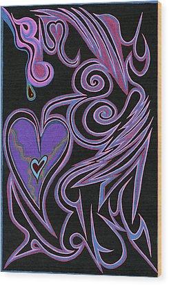 Love So Precious Wood Print by Kenneth James