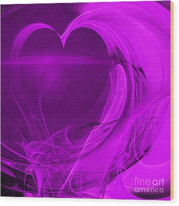 Love . Square . A120423.279 Wood Print by Wingsdomain Art and Photography