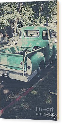 Love The Truck Wood Print by Awildrose Photography