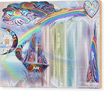 Love Those True Colors Wood Print by Catherine Herbert