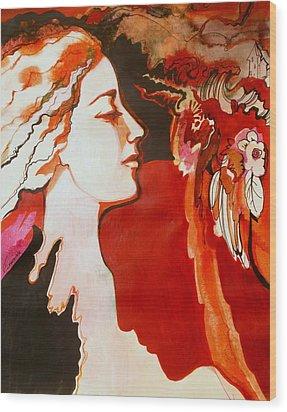 Love Wood Print by Valentina Plishchina