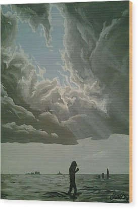 Love Walks On Water Wood Print by Eric Barich