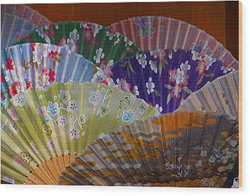 Lovely Fans In Tokyo Wood Print