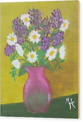 Wood Print featuring the painting Lovely Lavender by Margaret Harmon