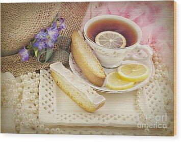 Lovely Tea Party Wood Print