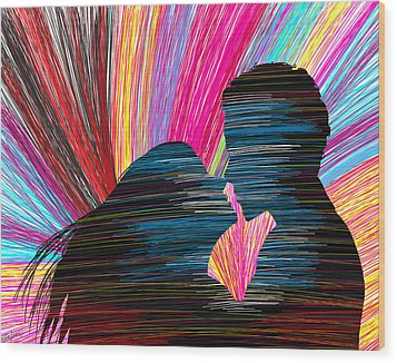 Lovers In Colour No.1 Wood Print by Kenal Louis