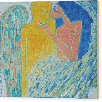 Loving An Angel Wood Print by Ana Maria Edulescu