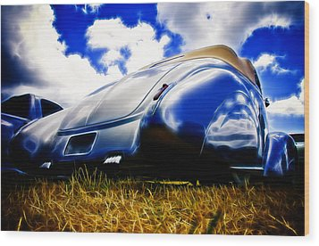 Low Ford Roadster Wood Print by Phil 'motography' Clark