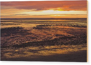 Wood Print featuring the photograph Low Tide by Michael Friedman