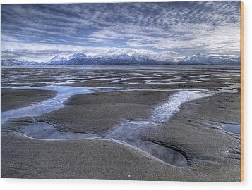 Low Tide Wood Print by Michele Cornelius
