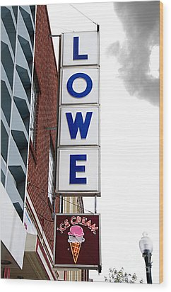 Lowe Drug Store Sign Color Wood Print by Andee Design