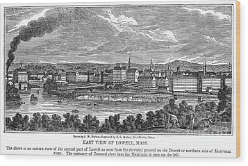 Lowell: Factories, 1844 Wood Print by Granger