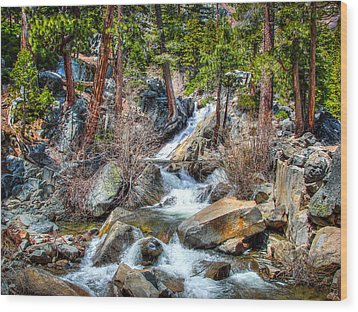 Lower Eagle Falls Emerald Bay Lake Tahoe Wood Print by Scott McGuire