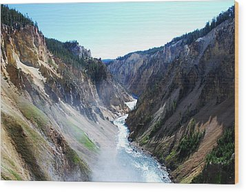 Lower Falls - Yellowstone Wood Print by Dany Lison