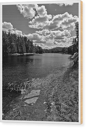 Lower Madawaska River Wood Print by Yves Pelletier