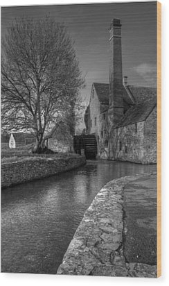 Lower Slaughter Mill Wood Print by Nigel Jones