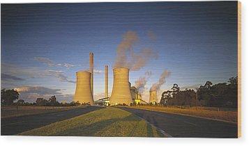 Loy Yang Power Station, Coal Burning Wood Print by Jean-Marc La Roque