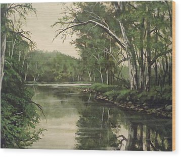 Wood Print featuring the painting Loyahanna Creek by James Guentner