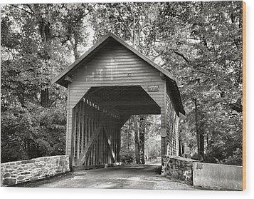 Loy's Station Bridge II Wood Print by Steven Ainsworth