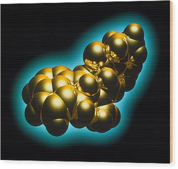 Lsd Drug Molecule Wood Print by Laguna Design