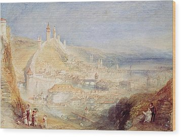 Lucerne From The Walls Wood Print by Joseph Mallord William Turner