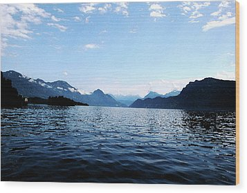Wood Print featuring the photograph Lucerne Lake by Pravine Chester