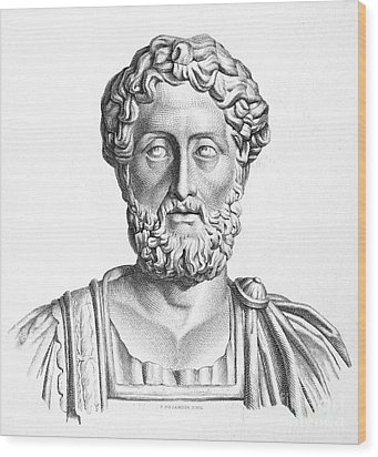Lucius Commodus (161-192 A.d.) Wood Print by Granger