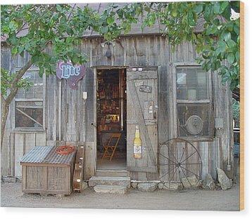 Luckenbach Texas 2006 Wood Print by Elizabeth Sullivan