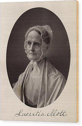 Lucretia Coffin Mott.  F. Gutekunst Wood Print by Everett