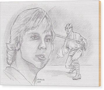 Luke Skywalker - Farmboy Wood Print