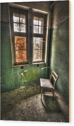 Lunatic Seat Wood Print by Nathan Wright