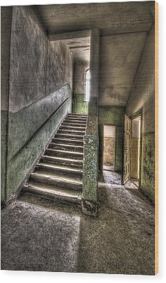 Lunatic Stairs Wood Print by Nathan Wright