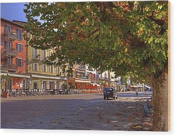 Lungolago Ascona Wood Print by Joana Kruse