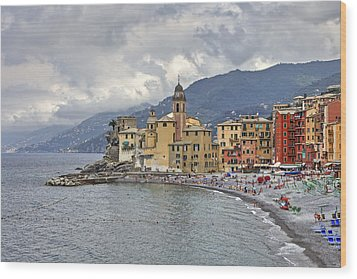 Lungomare In Camogli Wood Print by Joana Kruse