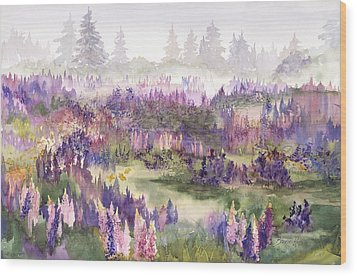 Lupines Galore Wood Print
