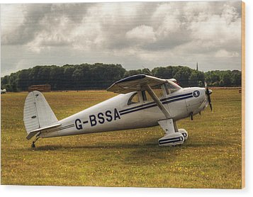 Luscombe 8e Deluxe 2 Seater Plane Wood Print