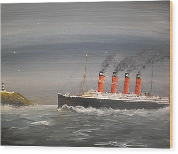 Lusitania Off The Old Head Wood Print by James McGuinness