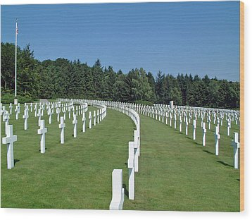 Luxembourg World War II American Cemetery  Wood Print