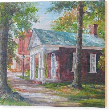 Wood Print featuring the painting Lyceum by Gloria Turner