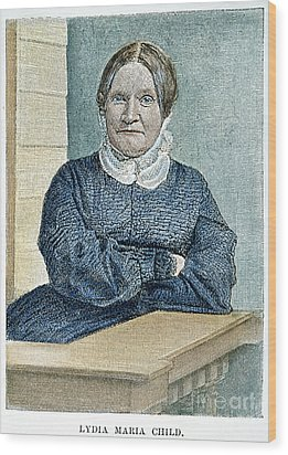 Lydia Maria Child (1802-1880) Wood Print by Granger